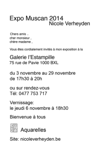 carte invitation expo novembre 2014